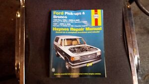 Ford Pick-Up and Bronco Haynes Manual 1980-1986