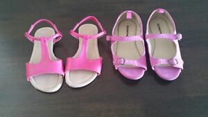 Toddler size 10 raspberry and dark pink summer shoes - $20.00