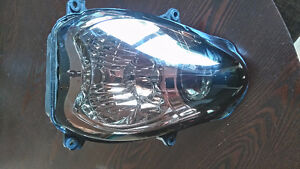 Smoked aftermarket head light for Hayabusa