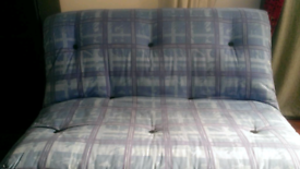 Double sofa bed with heavy futon mattress