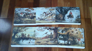 Thelwells Hunting Placemat Set of 6  British.