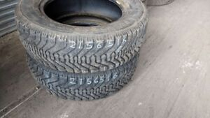 Pair of 2 Goodyear Nordic 215/65R16 WINTER tires (60% tread life