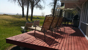 Lakefront Cottage for Rent at THE WINNIPEG BEACH MANITOBA