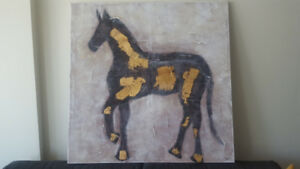 Large Horse Silhouette Canvas