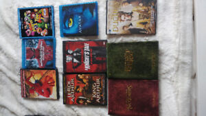 DVDs, Blu-Ray individual: 5$ or Bulk - 14 movies: 80$