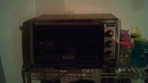 toaster oven (fits a 12 inch pizza)