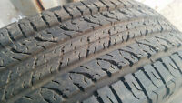 4 x 215/75R15 BFGoodrich all season touring tires. 90% tread