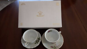 4 piece Hankook fine china tea setting