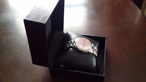 Women's Guess Watch - SIlver w/ pink face