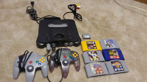 N64.  Controllers and 5 games