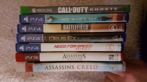 Jeux PS4, XBOX ONE, PS3.