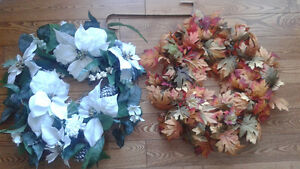 Two Wreaths with Hanger