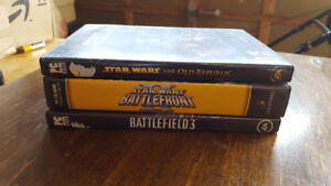 3 PC games, SWtOR/ Star Wars BF2 (2005 edition)/ Battlefield 3