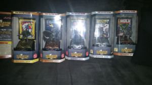 Comic book champions pewter figures.