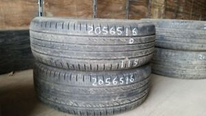 Pair of 2 Kumho Solus KH25 205/65R16 tires (50% tread life)