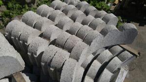 Lot de Bordures Dentelées Courbées ciment pour plate bande