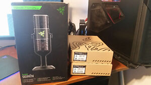 Razer Seiren USB Mic, Shock Mount, Pop Filter