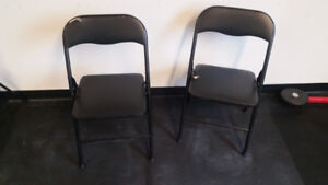 Folding Chairs (2 available)