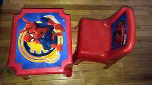 Spiderman Table and Chair