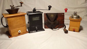 Antique Coffee Grinder collection 4 pieces West Island Greater Montréal image 1
