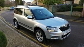 2014 (14) Skoda Yeti Outdoor 2.0TDI CR SE 1 private owner only 16,000 miles