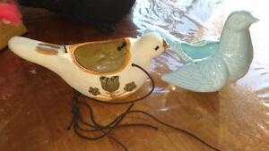 2 oiseaux en céramique à suspendre pour plantes pots à plante