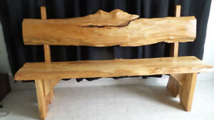Bench - life edge, maple  79 Inch X 45 Inch X  23 Inch