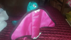 #15 Dog Toys - Green and Pink Fabric Monster $5