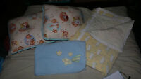 ASSORTED BABY PILLOWS AND BLANKETS