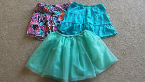 Size 7/8 skorts and fancy tule skirt