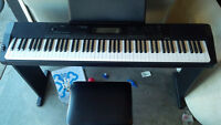 Casio CDP-220 88 Full-size Digital Piano w/ Pedal, Bench & Stand