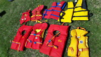 Life Jackets - 8 -infant to adult size, Mustang, Buoy-o-Boy