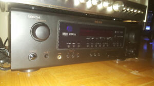 Denon AVR-687 7.1 Surround Sound Amp/Receiver & 100watt Speakers