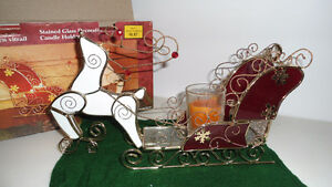 Stained glass Christmas decorative candle holder or best offer
