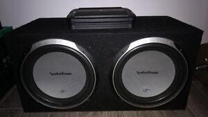 Sub 12 pouces avec ampli Alpine 500w