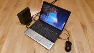 Portable HP et disque externe / HP Laptop & external drive $190