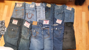 14 pairs of True Religion Jeans