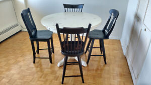 CANADEL Solid Wood Dining Table Set [5 pc.]