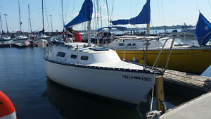 Hunter 25' sailboat with trailer