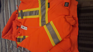 Work king Insulated Safety Work Hoodie hi-viz