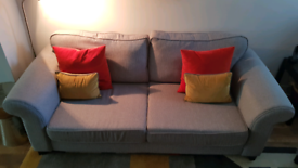 DFS 3 Seater Sofa, Heather Grey - in excellent condition
