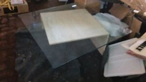 Contemporary Glass and Stone Table - Reduced to Sell Cambridge Kitchener Area image 2