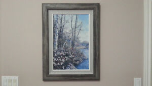 "James Keirstead Original Oil  Painting... ""Trees and Trilliums"""