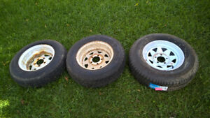 3 Trailer Tires on Rims for Sale