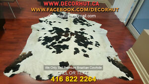 Soft to Touch Natural Shades Cowhide Rug Imported Brazilian West Island Greater Montréal image 1