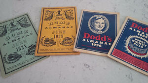 Dodd's Almanac 1954, 1956 Ford Home Almanac 1938, 1939