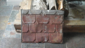 Old antique  tin roofing/ceiling  tile