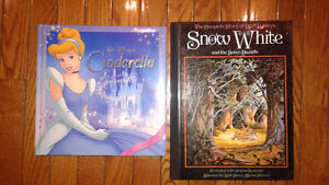 Cinderella and Snow White hard cover books