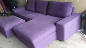 Ikea kivik sectional sofa w/ storage ottoman