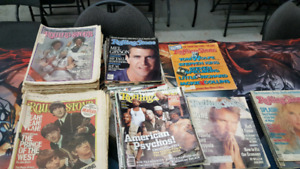 Vintage rolling stone magazine lot of 77 1975 to 1990